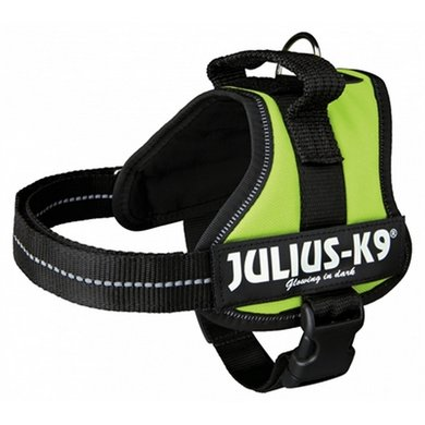 Julius K9 Power-harnas/Tuig Voor Labels Lime Mini/51-67cm