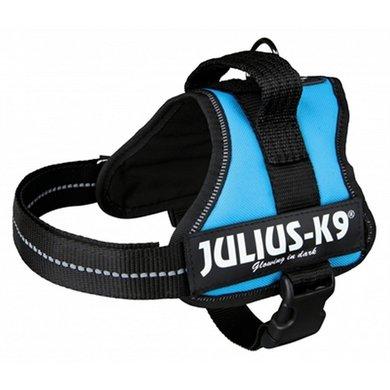 Julius K9 Power-harnas/tuig Labels LichtBlauw Mini/51-67cm