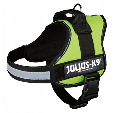 Julius K9 Power-harnas/tuig Labels Lime 0/58-76cm