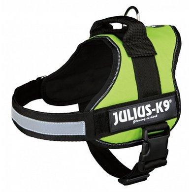 Julius K9 Power-harnas/tuig Labels Lime 0/58-76cm