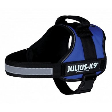 Julius K9 Power-harnas/tuig Labels Blauw 0/58-76cm