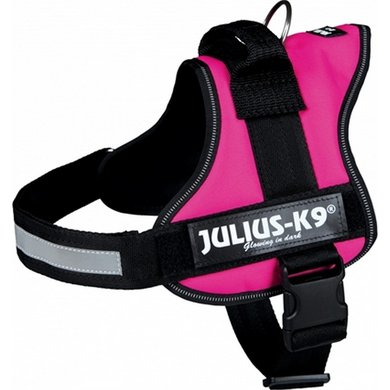 Julius K9 Power-harnas/tuig Labels Fuchsia 0/58-76cm