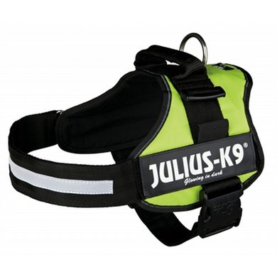 Julius K9 Power-harnas/tuig Labels Lime 2/71-96cm