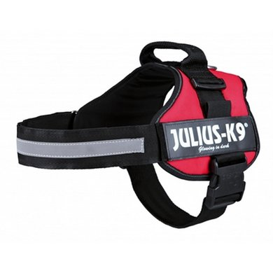 Julius K9 Power-harnas/tuig Labels Rood 2/71-96cm
