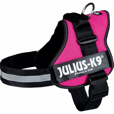 Julius K9 Power-harnas/tuig Labels Fuchsia 2/71-96cm