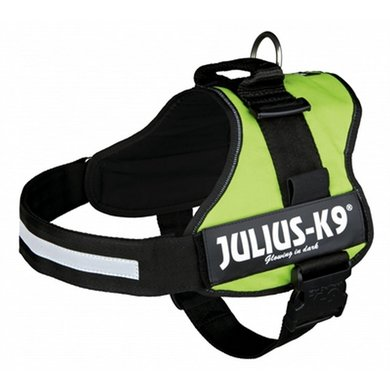 Julius K9 Power-harnas/tuig Labels Lime 3/82-118cm
