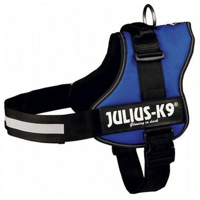 Julius K9 Power-harnas/tuig Labels Blauw 3/82-118cm