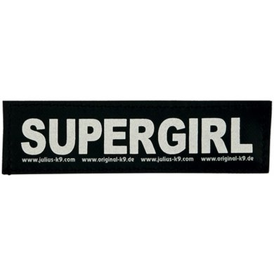 Julius K9 Labels Voor Power-harnas/Tuig Supergirl Small