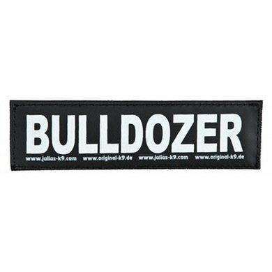 Julius K9 Labels Voor Power-harnas/Tuig Bulldozer Large