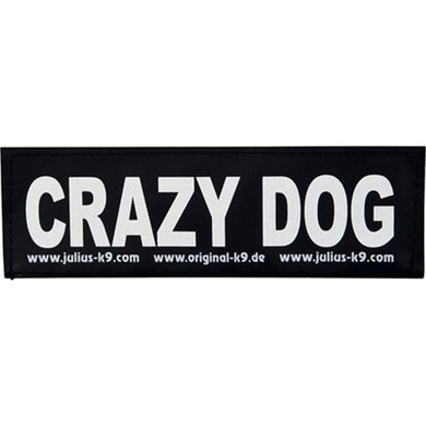 Julius K9 Labels Voor Power-harnas/Tuig Crazy Dog Large