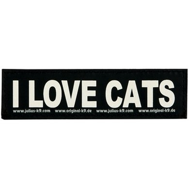Julius K9 Labels Voor Power-harnas/Tuig I Love Cats Large