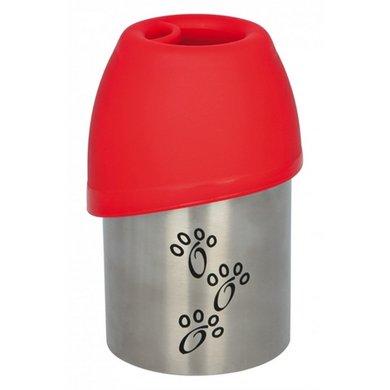 Trixie Drinkfles Rvs Met Plastic Drinkbakje 300ml