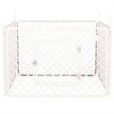 Puppyren 4 Panelen Wit 90x90x60cm