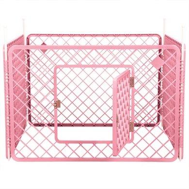 Puppyren 4 Panelen Roze 18 Stuks 90x90x60cm