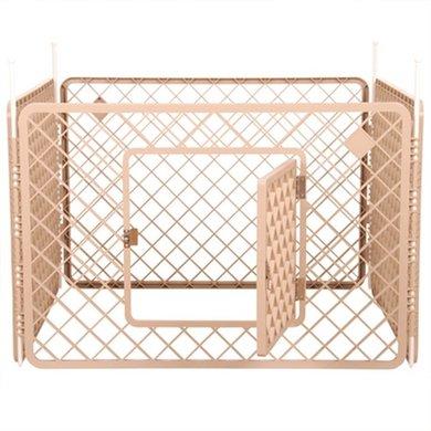 Puppyren 4 Panelen Beige 90x90x60cm