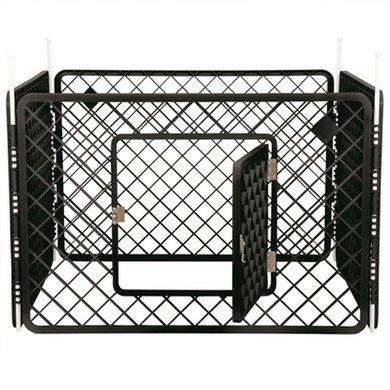 Puppyren 4 Panelen Donker Grijs 90x90x60cm