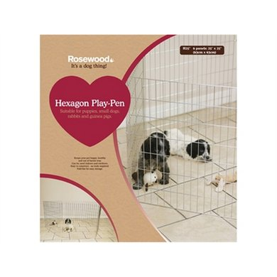 Rosewood Hexagon Puppy Ren 6 Panelen 60cm