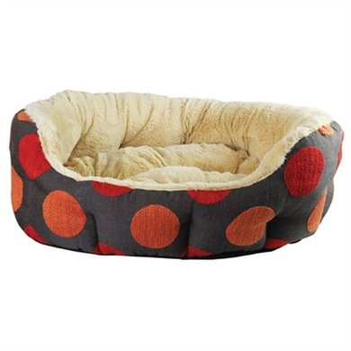 Rosewood Hondenmand Ovaal Spice Dotty Grijs/Rood/creme 71cm