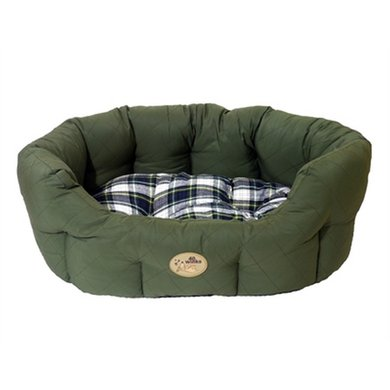 Rosewood Hondenmand Ovaal Country Ruit Groen 61cm