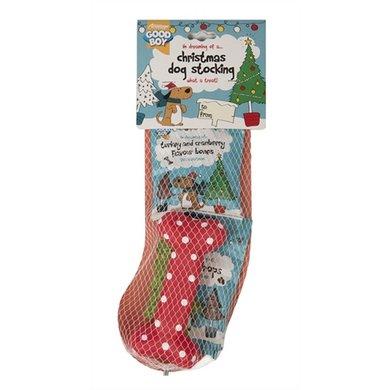 Good Boy Christmas Kerstsok Met Snacks En Speelgoed 4 St