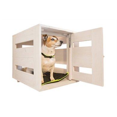Ferplast Bench Dog Home Hout Wit 65x45x54cm