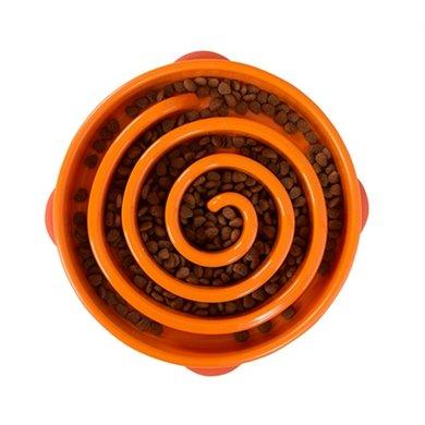 Slo-bowl Feeder Coral Oranje 29x29x6cm