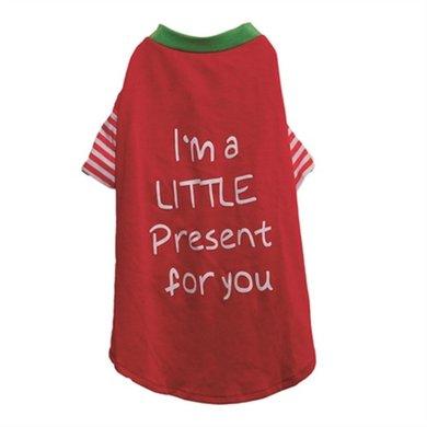 Cupid  Cohonden T-shirt Im A Litte Present Rood/groen 42cm
