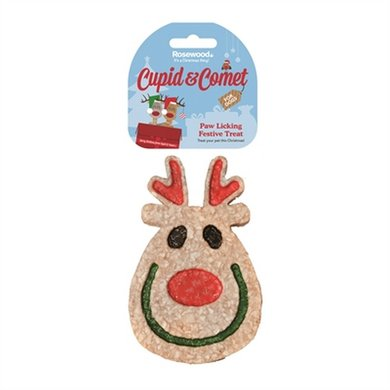 Cupid  Comet Paw Licking Festive Rendier Snack