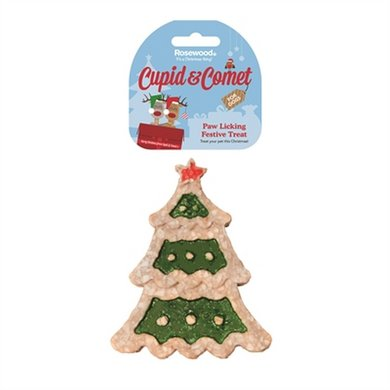 Cupid  Comet Paw Licking Festive Kerstboom Snack