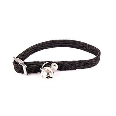 Halsband Kat Elastisch Nylon Zwart 10x4x1.5cm