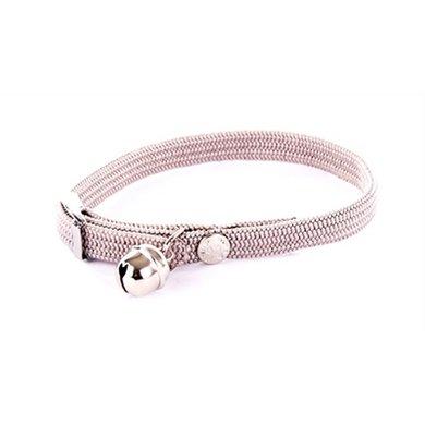 Halsband Kat Elastisch Nylon Grijs 10x4x1.5cm