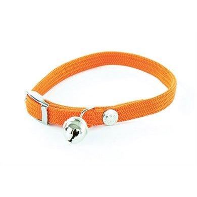 Halsband Kat Elastisch Nylon Oranje 10x4x1.5cm
