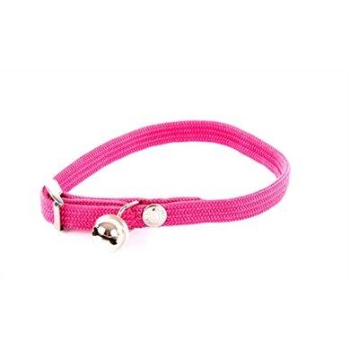 Halsband Kat Elastisch Nylon Roze 10x4x1.5cm