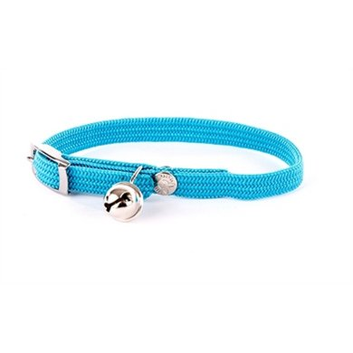 Halsband Kat Elastisch Nylon Turquoise 10x4x1.5cm