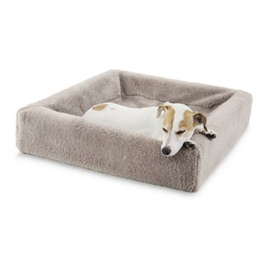 Bia Fleece Hoes Hondenmand Taupe 2 60x50x12cm