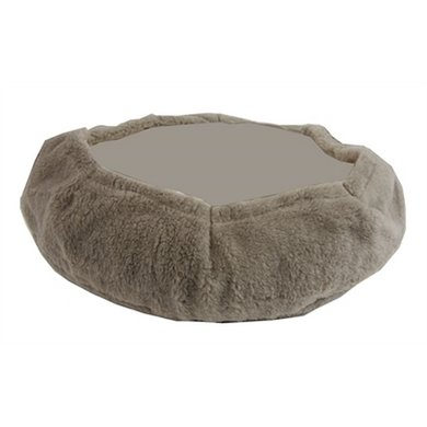 Bia Fleece Hoes Hondenmand Taupe 5 70x60x12cm