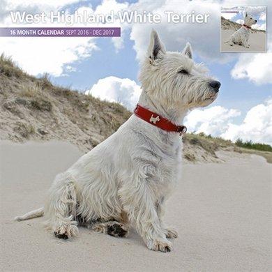 Magnet&steel Kalender 2017 Whighland White Terrier 30x30cm