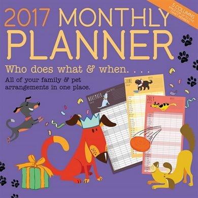 Magnetsteel Kalender 2017 Monthly Planner 30x30cm