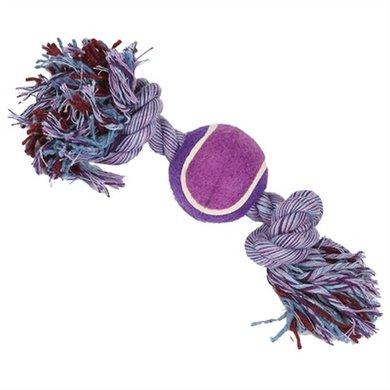 Happy Pet Nuts For Knots Tennisbal 2 Knopen Assorti 30x7x7cm