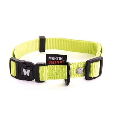 Martin Sellier Halsband Nylon Groen Verstel 20mm 40-55cm