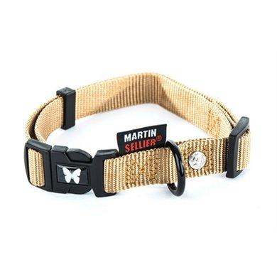 Martin Sellier Halsband Nylon Beige Verstel 25mm 45-65cm