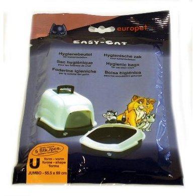 Ebi Easy-cat Kattenbakzak Jumbo U-vorm 5 St
