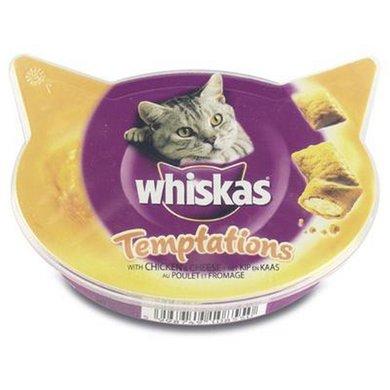 Whiskas Snack Temptations Kip/kaas 60gr 8st
