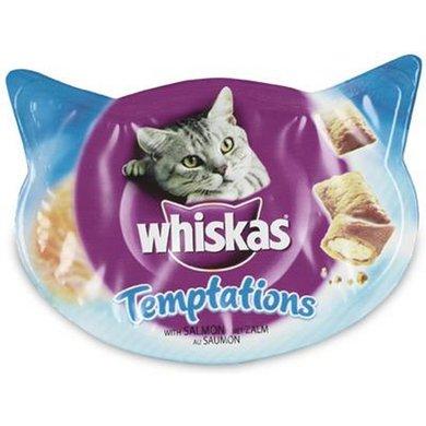 Whiskas Temptations Zalm 60gr 8st