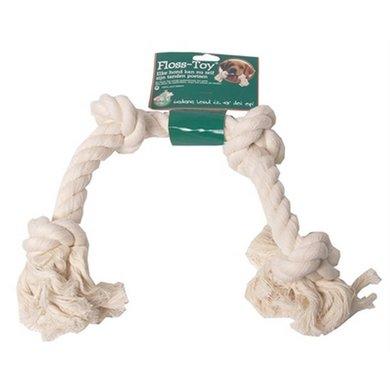 Flostouw Wit 4-knoop 42cm