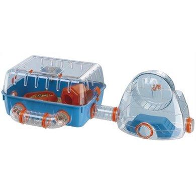 Ferplast Hamsterkooi Combi 2 Blauw/Oranje 79.5x29.5x26x3cm