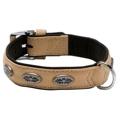 Adori Halsband Artleder Buffalo Deco Beige/zwart L 55x3cm