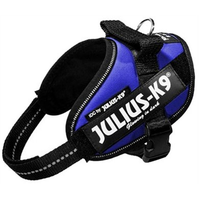 Julius K9 Power-harnas/tuig Blauw MinI MinI/40-53cm