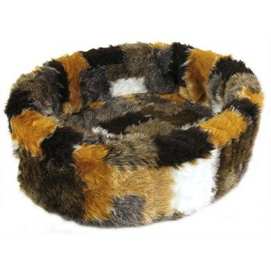 Petcomfort Fur Basket Patchwork Beige