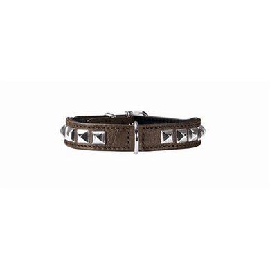 Hunter Halsband Rocky Petit Nappaleer Bruin/zwart 24x1.6cm